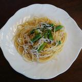 しらうおとアスパラガスのスパゲティー