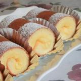 レモンクリームの小型ロールケーキ