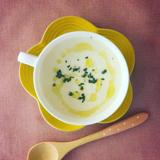 火を使わない!ホワイトアスパラと新玉ねぎのスープ