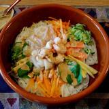 野菜と海鮮の冷たいフォー