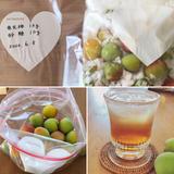 ジッパーバッグで作る梅シロップ