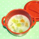 みそ汁から取り分け離乳食「ミルクスープ」