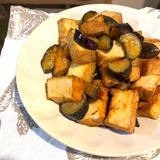 秋茄子と厚揚げの炒め物