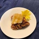 納豆揚げの大根おろしかけ(精進料理)