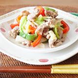 糖質off❗️レンチン「豚肉と野菜の炒め物」