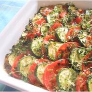夏野菜のティアン(ズッキーニとトマトのオーブン焼き)