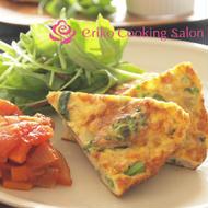 菜の花と鶏ひき肉のフリッタータ