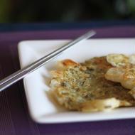 高菜と餅のチヂミ