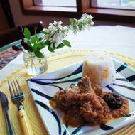 鶏肉の胡桃ソース煮~メープル風味