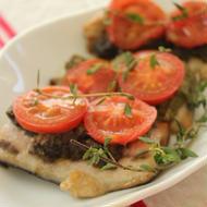 秋刀魚のオーブン焼き ブラックオリーブ風味