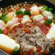 フライパンでトマトすき鍋