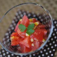 トマトの塩レモンマリネ