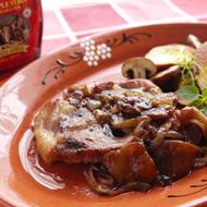豚肉のソテー りんごのメープルバルサミコソース
