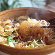 キャベツと春雨の四川土鍋煮込み