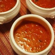 バルサミコ酢のトマトスープ