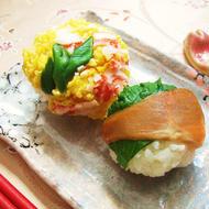 サーモン青じそ&カニかま炒り卵 2種手まり寿司