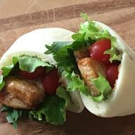 豚ばら肉の江戸甘味噌ピタサンド
