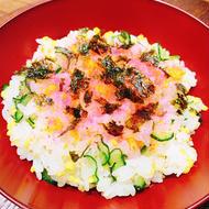 パパと子供が作れる簡単雛祭りちらし寿司