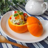 オレンジのさっぱりライスサラダ