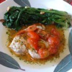 カジキマグロの夏野菜ソース