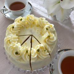 英国菓子「エルダーフラワーとレモンのケーキ」