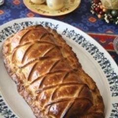 豚のフィレ肉とマッシュルームのデュクセルのパイ