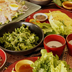 野菜がたっぷりのアジアのメニューはダントツ人気メニューです。