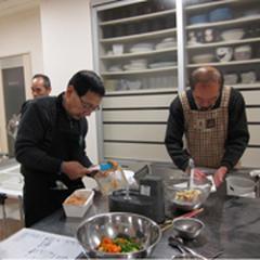 第3土曜日の男の料理教室です。