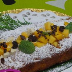 10月秋の和食 デザート りんごのパウンドケーキ