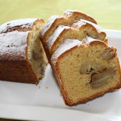 キャラメルたっぷり}バナナのパウンドケーキ