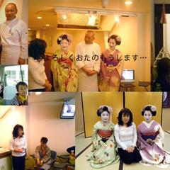 2010年4月本物の舞妓さんと一緒に京都ケーキツアー