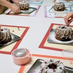 カプチーノマーブルケーキ制作中 「パン&お菓子レッスン」
