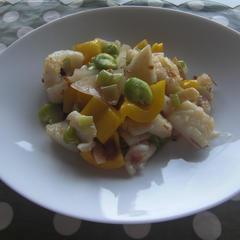 中華料理のクラス 旬の空豆を使った料理