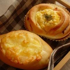 6月のレッスンメニュー、Wチーズパン&ハム卵パンです♪