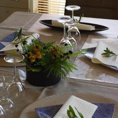 盛夏のテーブルセッティング
