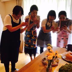 試食のときには恒例の写真撮影タイム~!