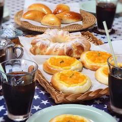 レッスンでは毎回3種類のパンを焼き上げます
