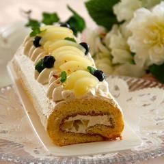 ケーキレッスン キャラメルロールケーキ