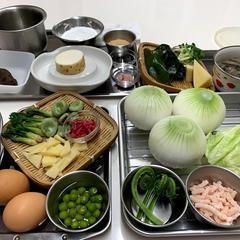 二十四節気を愉しむお料理クラス(材料)