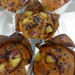 日進市民会館でお教えした黒糖蒸しパンです。