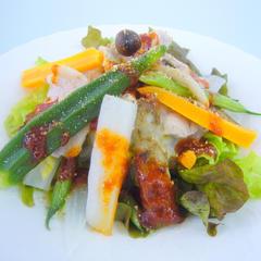 豚肉と温野菜コチュジャンソース