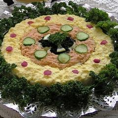 円型サンドイッチ
