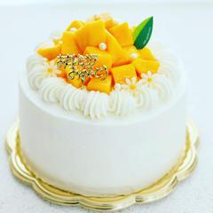 マンゴーデコレーションケーキ