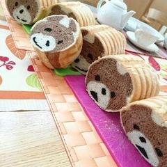デコ食パン クマちゃん いろんな顔になるのが楽しいんです