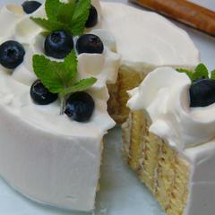 出張レッスンしたケーキです。ルバーブを使いました。