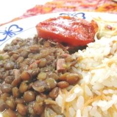 2011年4月 レンズ豆と野菜煮込み料理、カフタ)