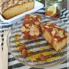 米粉のアーモンドキャラメルケーキ