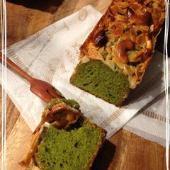 ナッツと抹茶のキャラメル仕立てケーキ