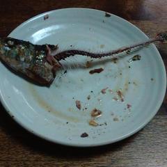 テーマお魚 イワシの塩焼き試食 こんなに奇麗に食べた子が!