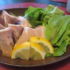 7月の竹篭弁当の点心のひとつで豚肉の香り煮です